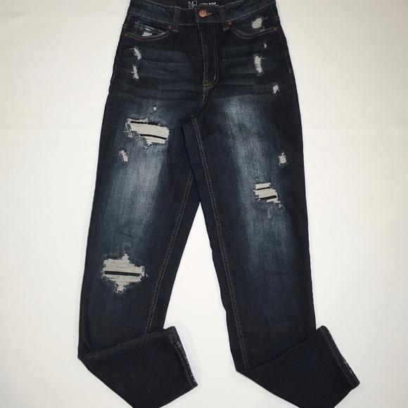 No Boundaries Juniors High Rise Mom Jeans